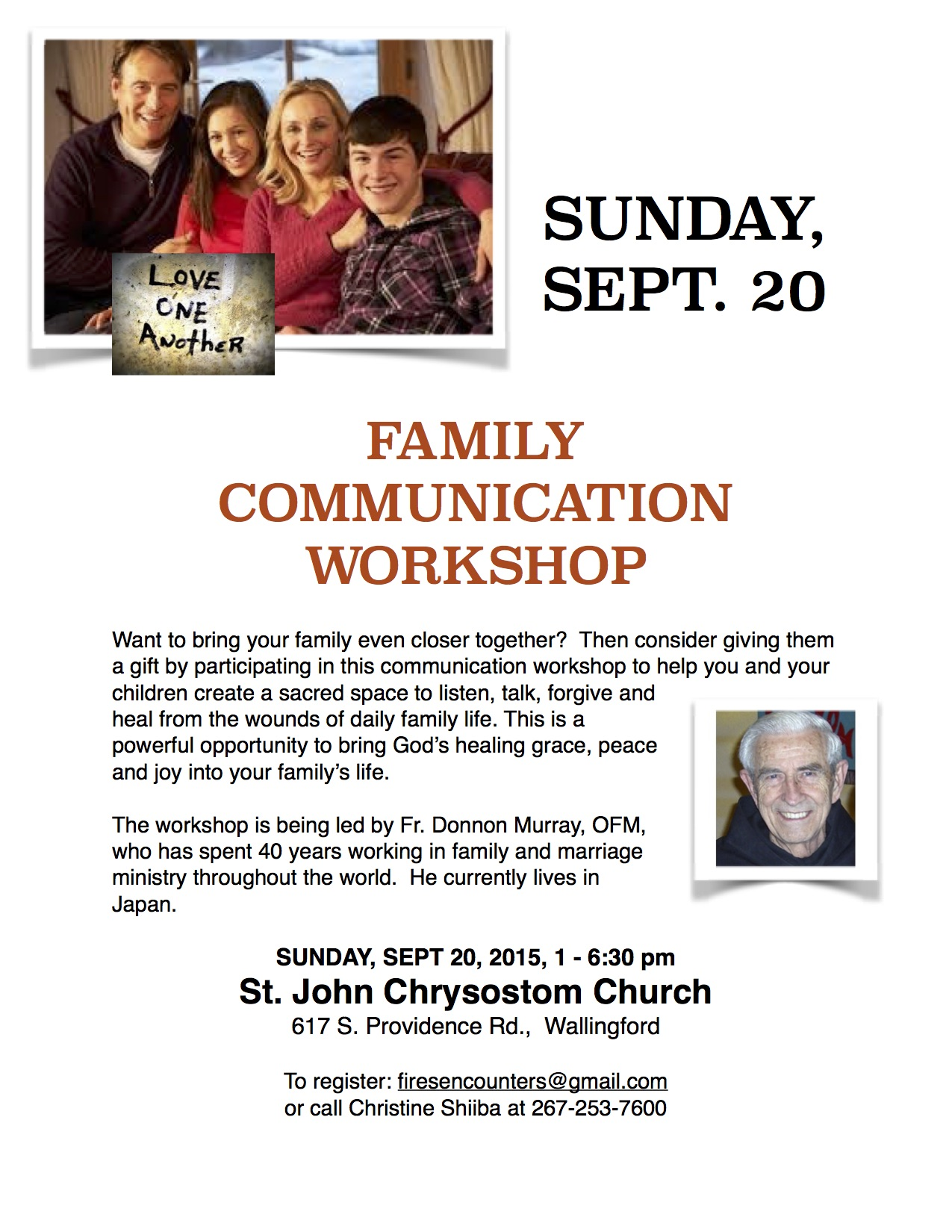 Fr. Donnon Workshop at World Meeting of Families, Sept 2015